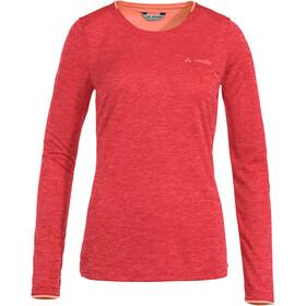 VAUDE Essential - Camiseta de manga larga Mujer - rojo